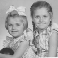 1957 with my older siter.jpg