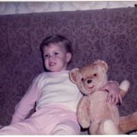 1984 Szeged-susan with the famous Teddy bear.jpg