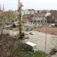 SZTE József Attila Tanulmányi és Információs Központ építkezés - 2002. február 27.
